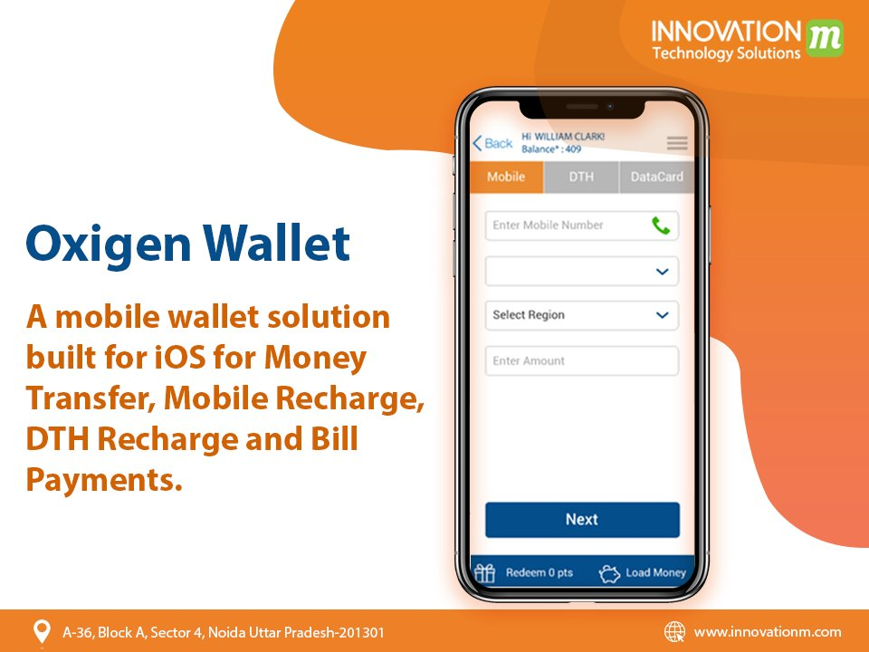 Oxygen WalletWe worked on this wallet solution built for the iOS platform for Money Transfer, Mobile Recharge, DTH Recharge & Bill Payments.#InnovationM #OxygenWallet #AppDevelopment #MobileAppDevelopment #iOSAppDevelopment #AndroidAppDevelopment #AppDevelopmentCompany