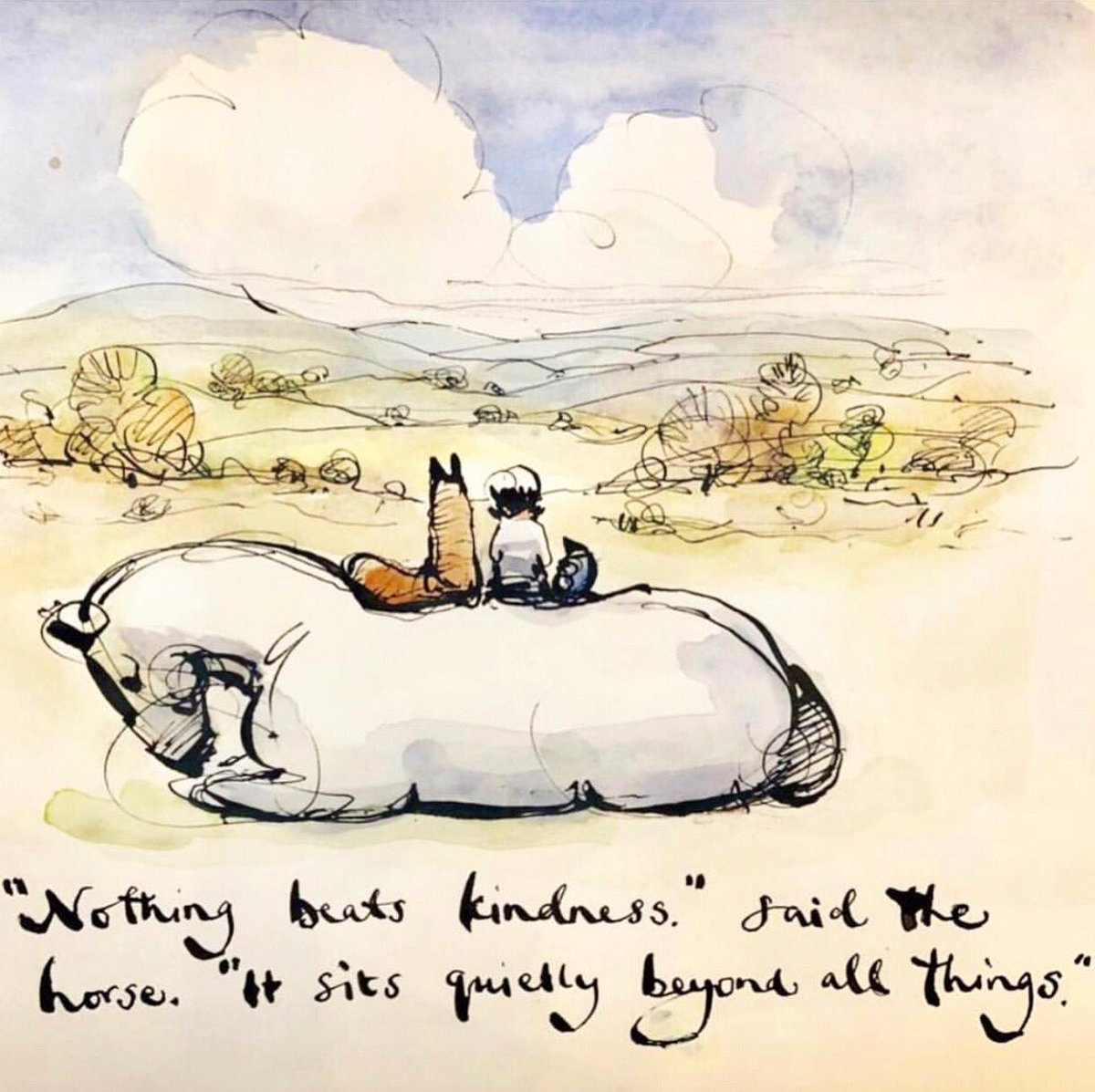 A drawing from the book as it's world kindness day today.