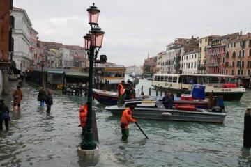 Marea alta en Venecia Noviembre 13 del 2018