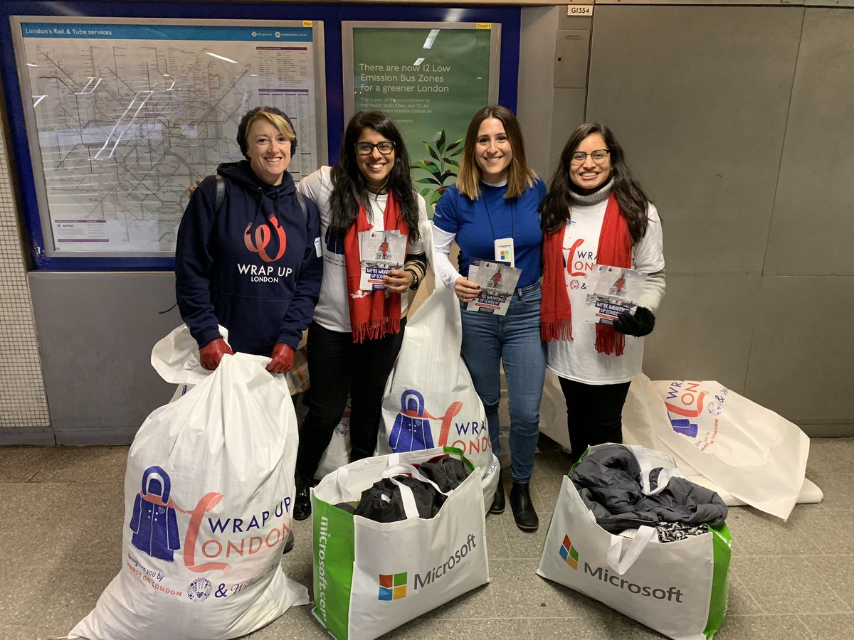 So glad to represent the Flagship  @MicrosoftStore UK donating to a very worthy cause @WrapUpLondon! Your mission and work is so impactful to London, and beyond, and we are happy to play a small part! #MicrosoftLDN #GIVE #Volunteering