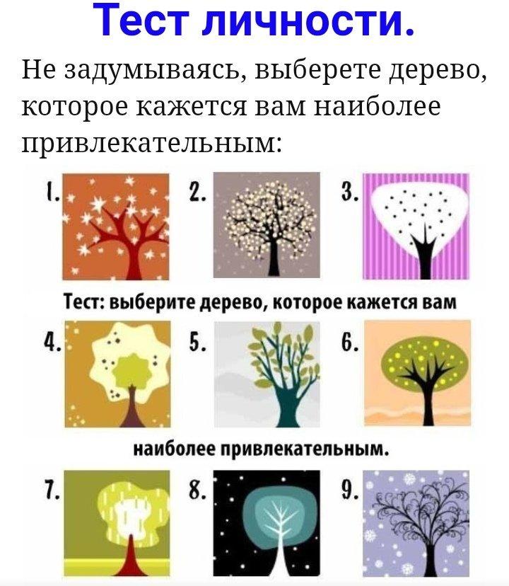 Психологический тест с картинками для работы