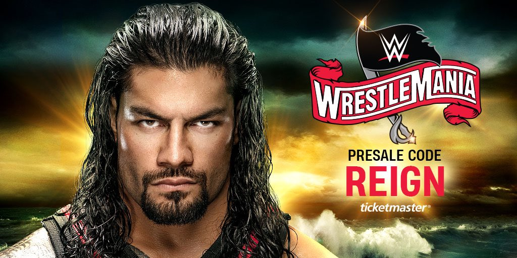 Enter The Big Dog's Yard at @WrestleMania! Get tickets now. Use presale code: REIGN https://www.ticketmaster.com/event/0D00574FDBCBCF5F …