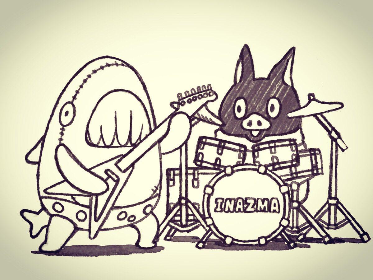 サメにはギターがよく似合う。#イナズマデリバリー