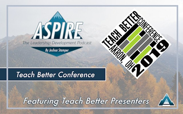 {New} BONUS episode of #AspireLead w/ @burgessdave & @burgess_shelley as we discuss the #TeachBetter19 Conference, teaching and leadership strategies, @dbc_inc projects & #DBCPirateCON this summer. #tlap #LeadLAP   🎙️:   🖥️: