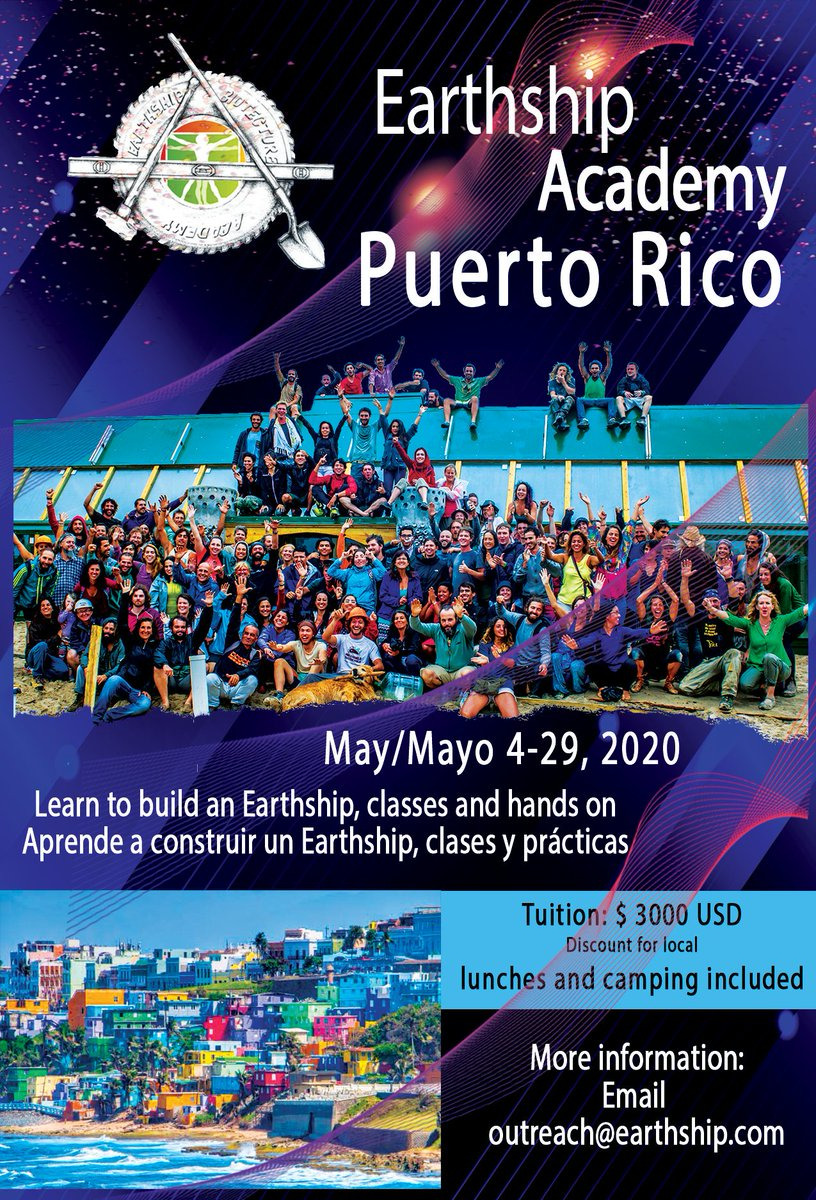 NEW ACADEMY IN PUERTO RICO!We are building a school! Come and participate, email: outreach@earthship.com