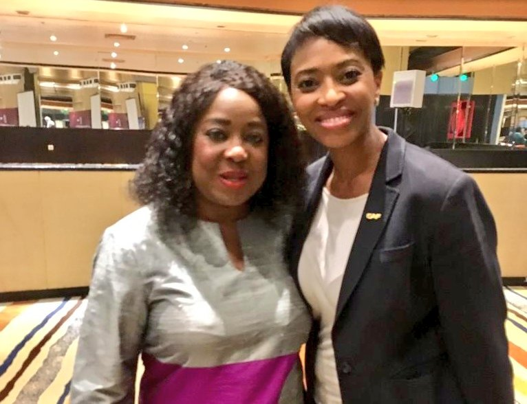 Marketing Director in Cairo for CAF Workshop FIFA Secretary General and FIFA General Delegate for Africa @fatma_samoura with Jessica Motaung in Cairo. #Amakhosi4Life