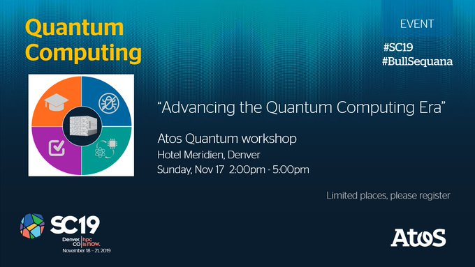 #Quantum workshop at #SC19 Sunday Nov 17th. Don't miss this opportunity to discover the...