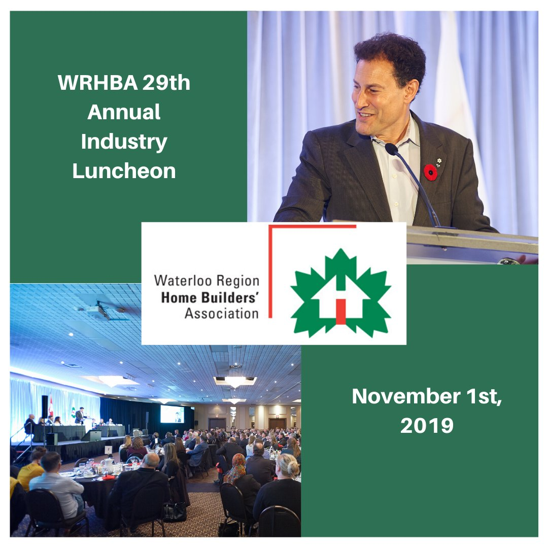 A couple of photos from our 29th Annual Industry Luncheon featuring @spaikin. Thank you to Sponsors and everyone who came out!  #wrhba #waterloo #waterlooregion #home #homebuilders #association #notforprofit #homebeliever #waterlooontario #ontario #canada #kwlocal #homebeliever pic.twitter.com/hcvAHC1os5