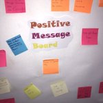 Image for the Tweet beginning: Lovely message board to greet