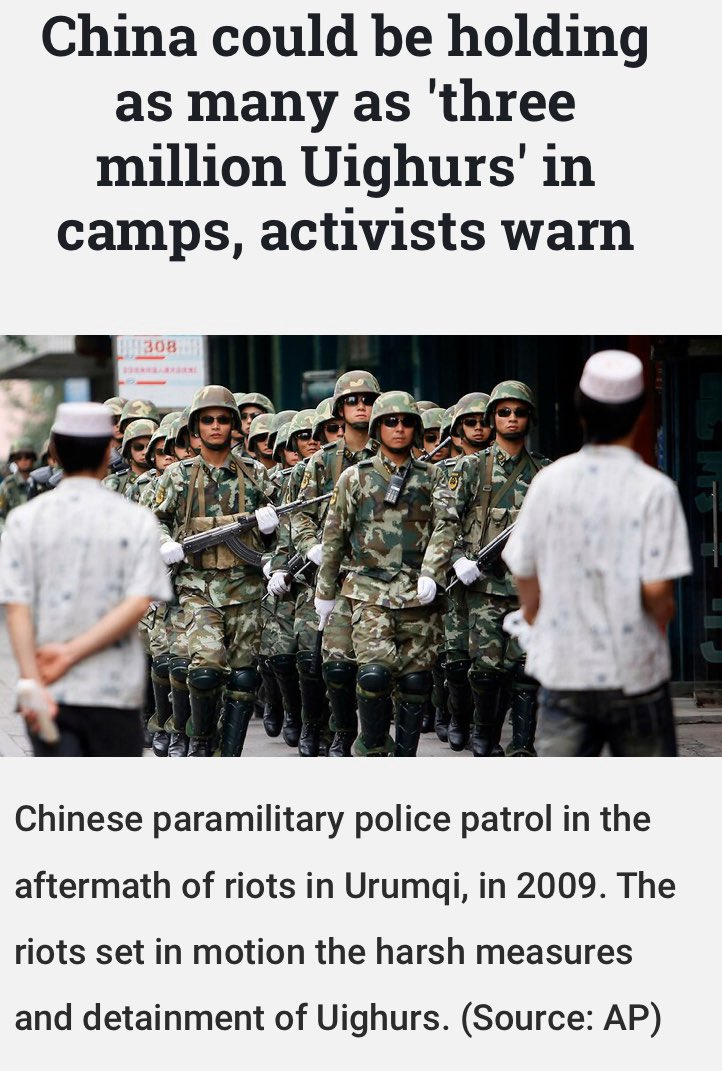 #Uighurs  are being #tortured  or re educated in #China  in #HongKongProtest  they are trying to surpress the #HongKong  nationals .In #srilanka  & #Cambodia  they are buying up land @ a rate of knots as #the   #world   let's them carry on