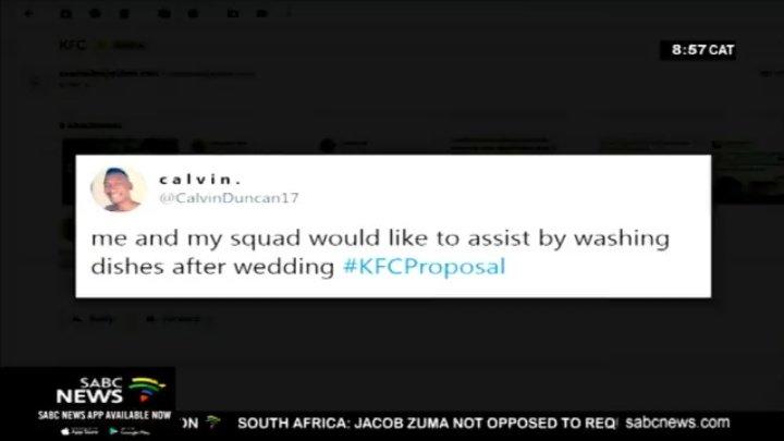 #KFCProposal @CalvinDuncan17 nigga you made it