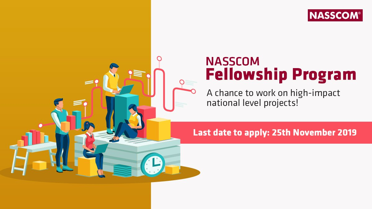 Are you a young, aspiring fellow with a passion to work on complex high-level national projects? If so, we've got the right platform for you to shine!For more details and to apply for the NASSCOM Fellowship Program, visit: http://bit.ly/2NGEGyB#NASSCOMFellowship