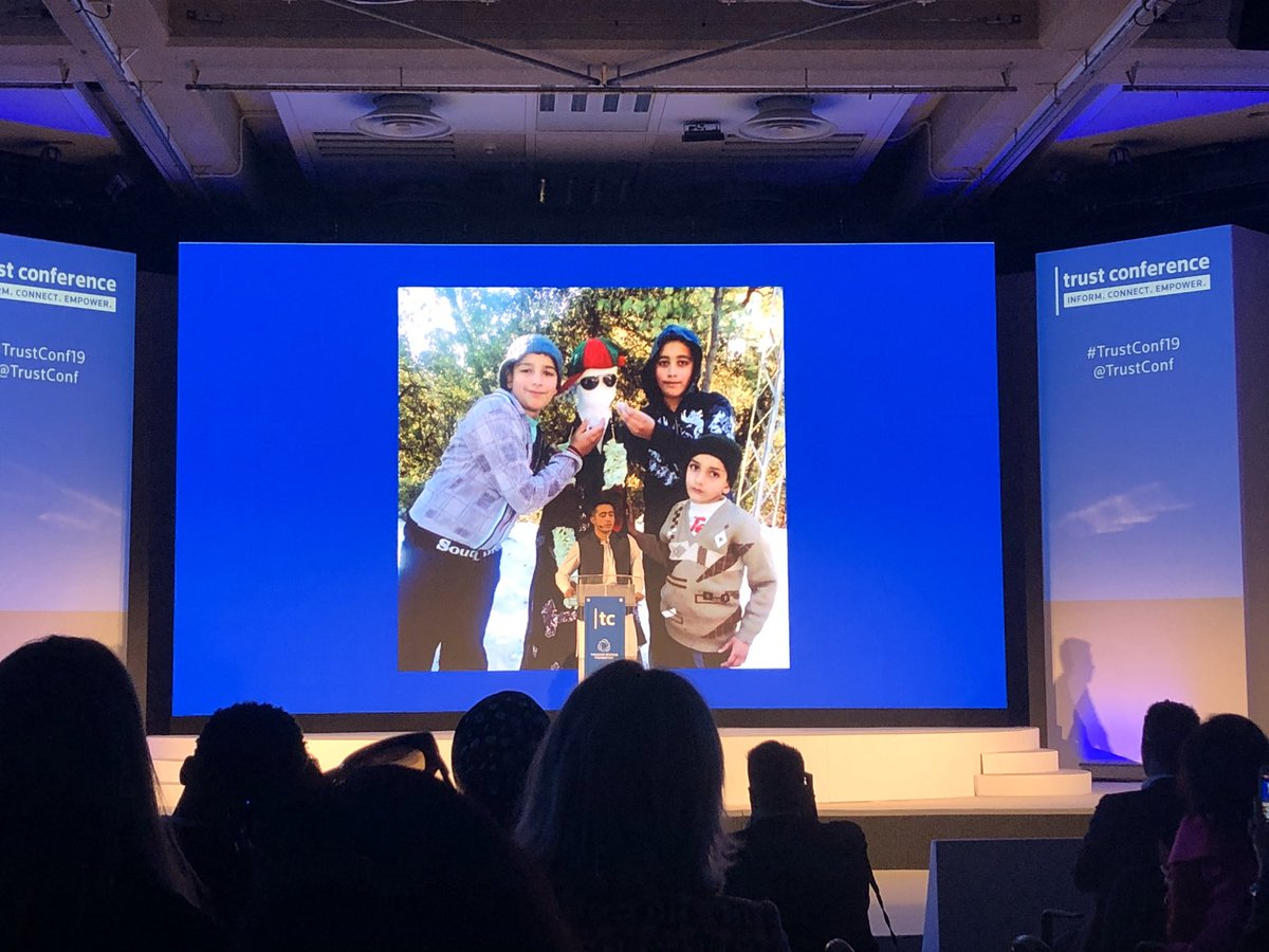 Ahmad Nawaz (@Ahmadnawazaps) survived a Taliban terrorist attack at his school in Peshawar in 2016. The tragic experience inspired him to begin counter-radicalisation work and start a charity to educate children around the world. #TrustConf19
