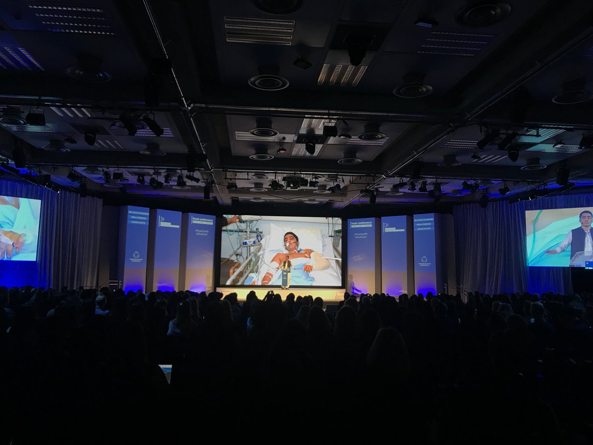 """""""I will try my best to make sure every child goes to school to ensure we can eradicate terrorist ideology."""" Ambassador @Ahmadnawazaps survived an attack at his school in 2014 & now works to support children's education. He shared his story at #OYW2019 #TrustConf19 @trustconf"""