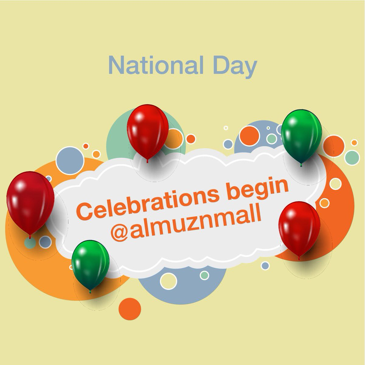 Come be a part of the Al Muzn Mall family and celebrate a fun-filled, thrilling 49th National Day! Be prepared for fantastic surprises, prizes and giveaways for you and your family!  #AlMuznMall  #shopping  #dining  #playarea  #mawaleh  #restaurants  #coffeeshop  #desserts   #nationalday