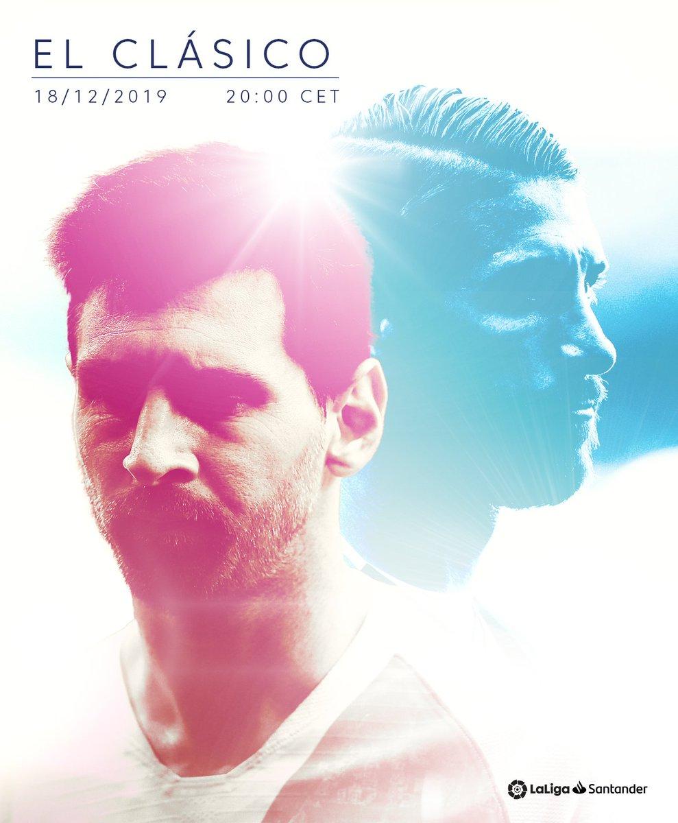 #ElClasico date confirmed!   Wednesday 18th December  Camp Nou  8:00pm CET   #LaLigaSantander