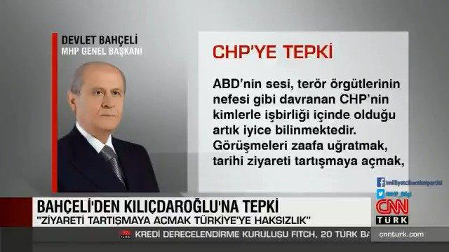 ABD'nin sesi, terör örgütlerinin nefesi, husumet cephesinin bekçisi gibi davranan CHP'nin kimlerle işbirliği içinde olduğu artık iyice bilinmektedir.