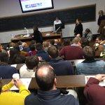 Image for the Tweet beginning: Packed meeting of @sussexucu members