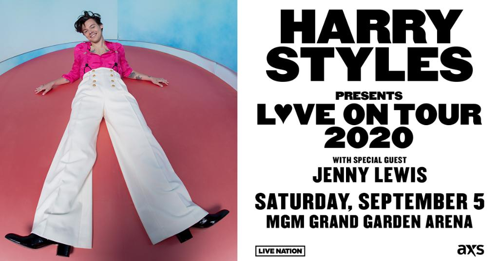 test Twitter Media - JUST ANNOUNCED! @Harry_Styles is bringing his Love On Tour. 💗 Don't miss him @MGMGrand on Saturday, 9/5. Tickets on sale Friday, 11/22: https://t.co/bQjWy0UtWX. https://t.co/Bag0t7ezs2