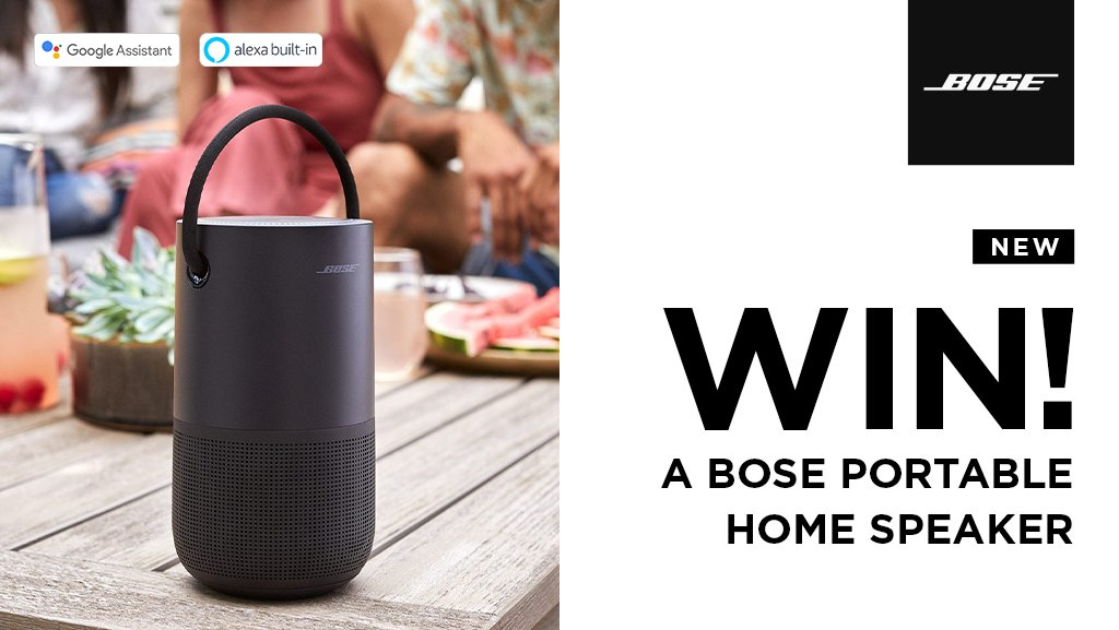 Last chance to enter our latest competition to #WIN a @BoseUK Portable Smart Speaker! Simply follow us @HughesDirect & RT  Ends 13/11/19, Ts&Cs apply -  https://www. hughes.co.uk/competition-te rms-and-conditions  … <br>http://pic.twitter.com/YoFt1dvuxm
