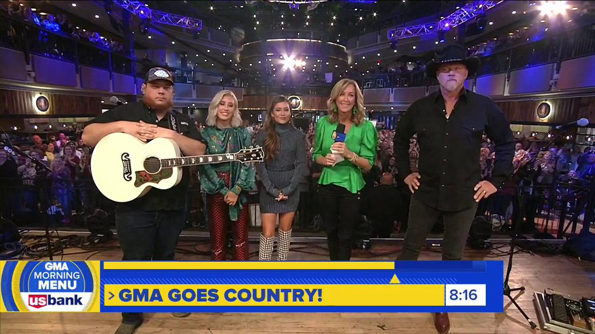 AHEAD ON @GMA: We're in Nashville with @lukecombs, @MaddieandTae and @TraceAdkins as we get ready for the #CMAawards