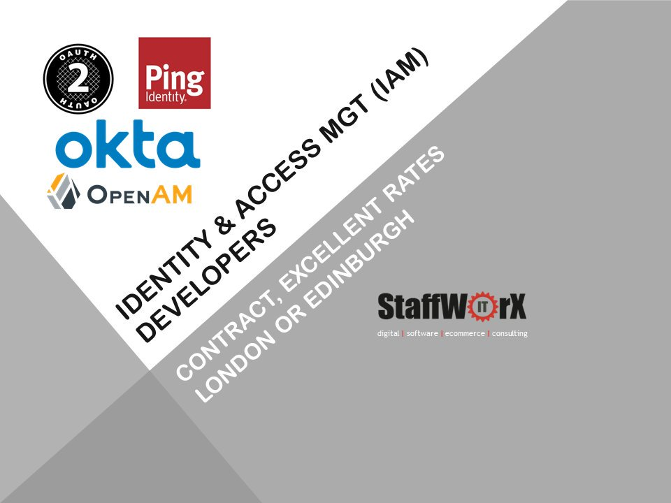 test Twitter Media - Identity Access Management Developers, contract, IDM, IAM, London or Edinburgh, 3 months initial, excellent rates  #identityandaccessmanagement #iam #idm #staffworx #recruitmentpartner #okta #pingidentity #auth0 #forgerock #contractstaffing #londonjobs #edinburgh https://t.co/NJrEisw3Cw