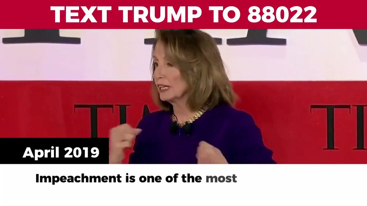 Trump campaign�s @TrumpWarRoom targets Pelosi and the media in scathing new anti-impeachment video