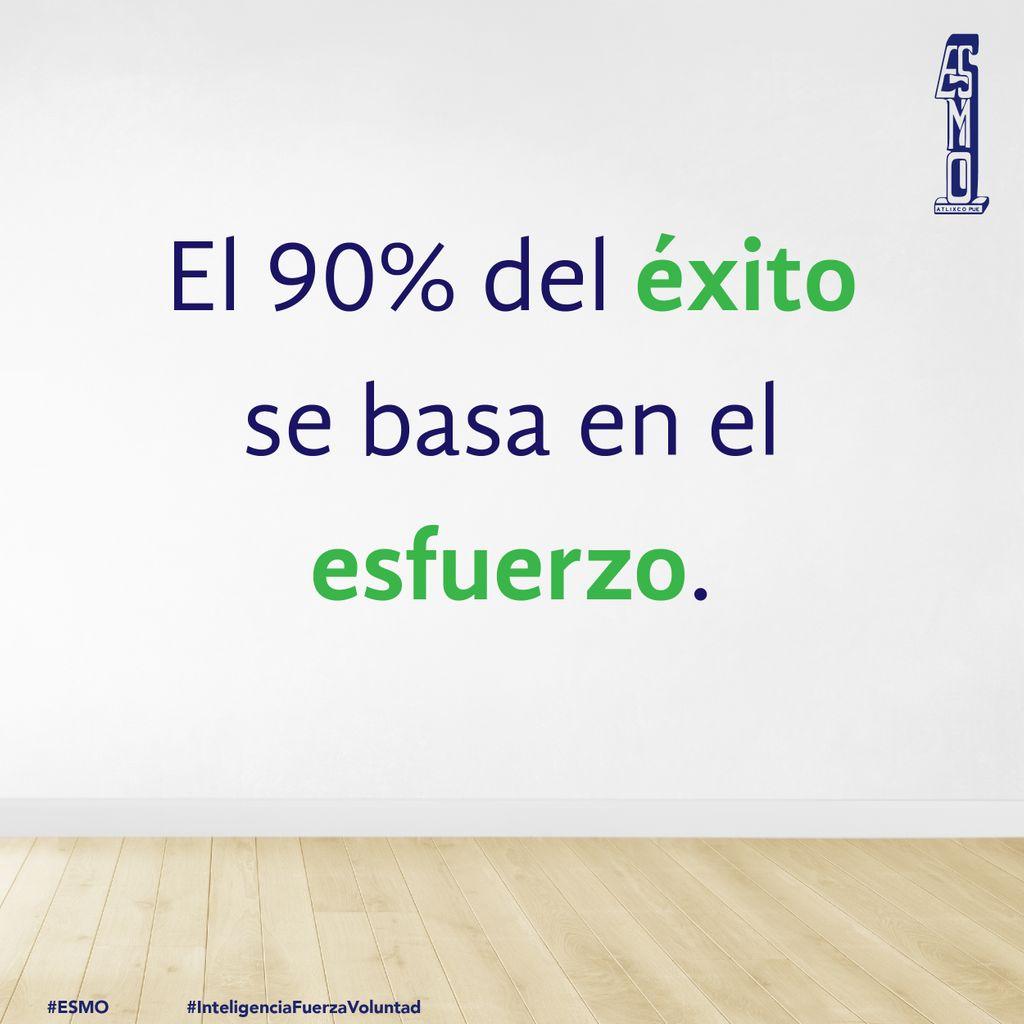 🥇 El éxito no se consigue fácil, de nada en trabajo constante para llegar a la meta. #FelizMiércoles 🙃  #ESMO #InteligenciaFuerzaVoluntad #Atlixco #Puebla  #EducaciónBásica #AccionesPorLaEducación
