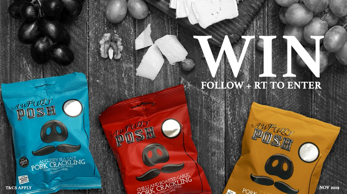 By Jove, it's #WinItWednesday! We're thrilled to say we're giving away a spiffing selection of our awfully posh snacks!   For your chance to #WIN, FOLLOW & RT to enter our #competition!  #Giveaway<br>http://pic.twitter.com/GL2yJQR9N5