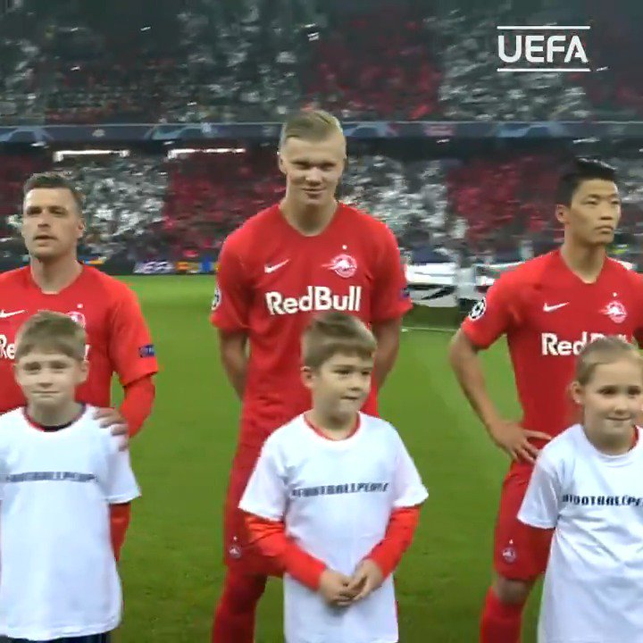 Erling Braut Haaland on the  #UCL anthem: