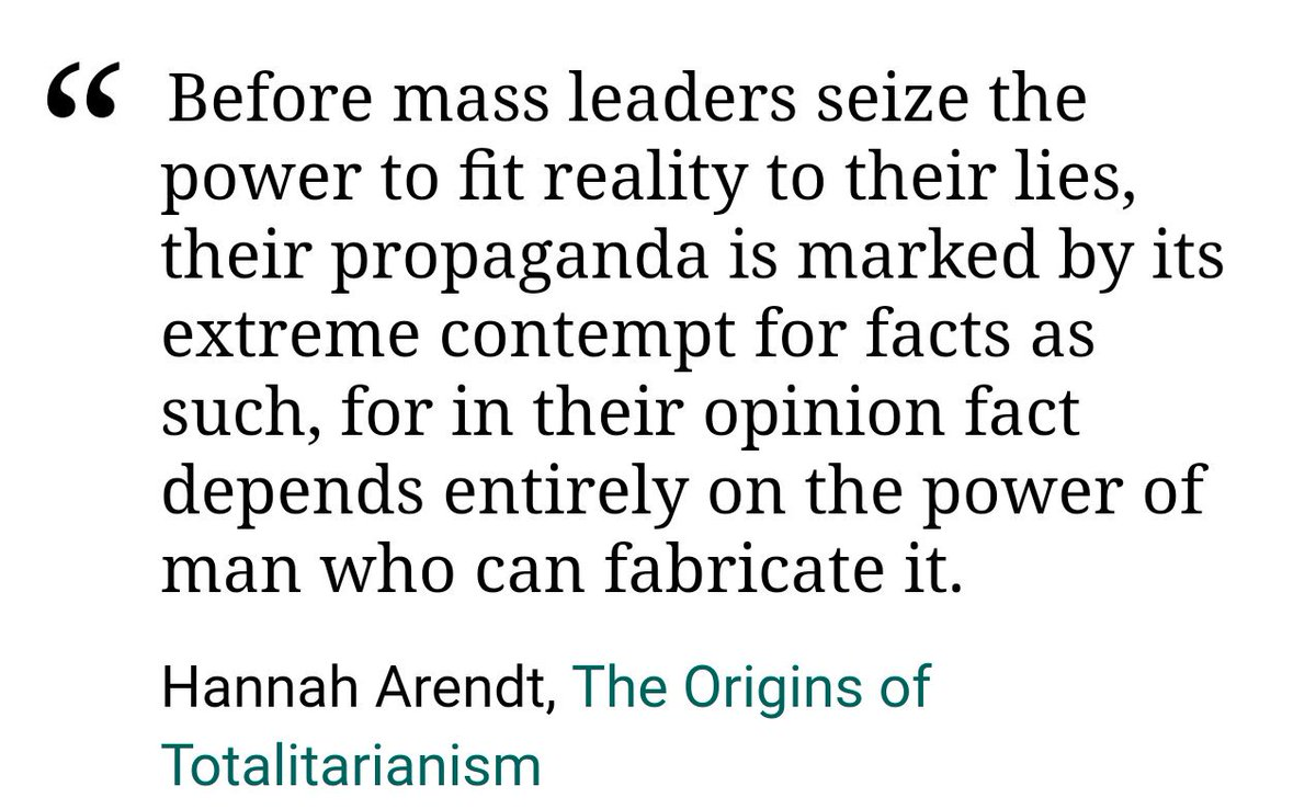 On @gaslitnation: Putin and Trump are united in their hate and desire for power for powers sake. Theyre both experts at manipulating reality, at pulling you into their reality. They embody this quote from Hannah Arendt: patreon.com/posts/mafia-st…