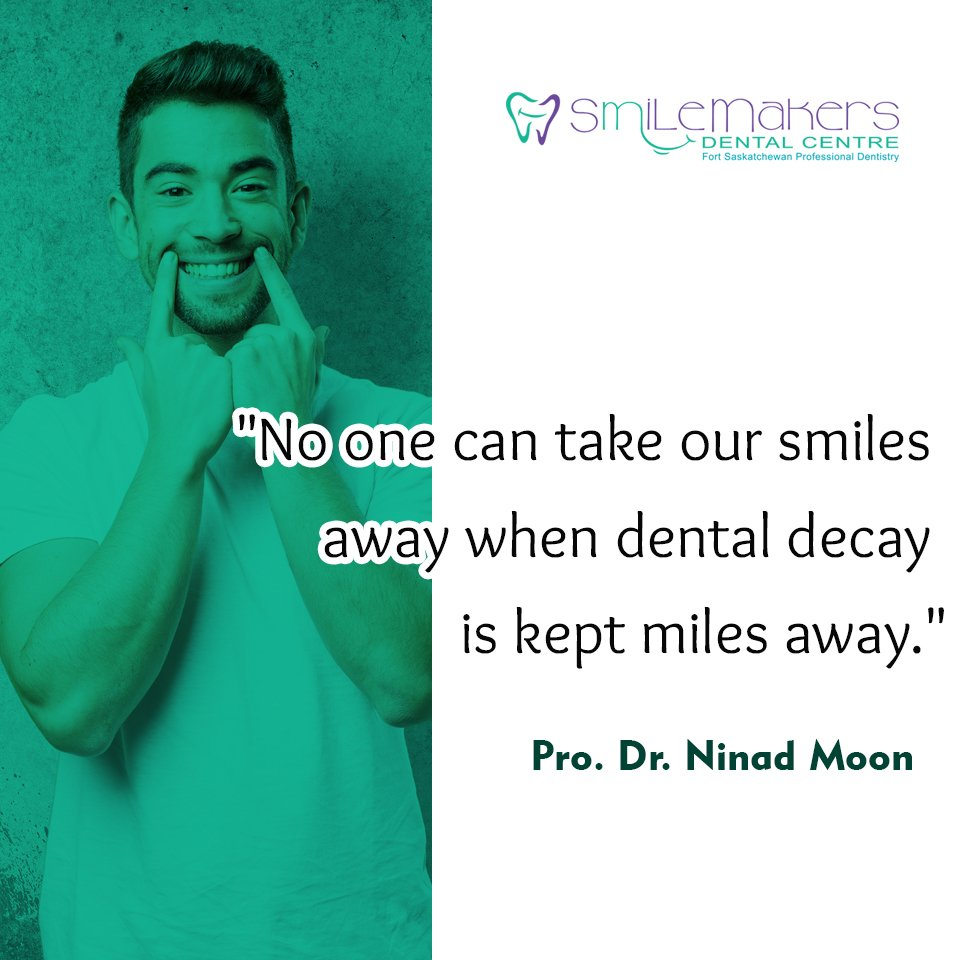 """No one can take our smiles away when dental decay is kept miles away."" ~ Pro. Dr. Ninad Moon  #quote #quoteoftheday #topquotes <br>http://pic.twitter.com/SbmOQpxTb2"