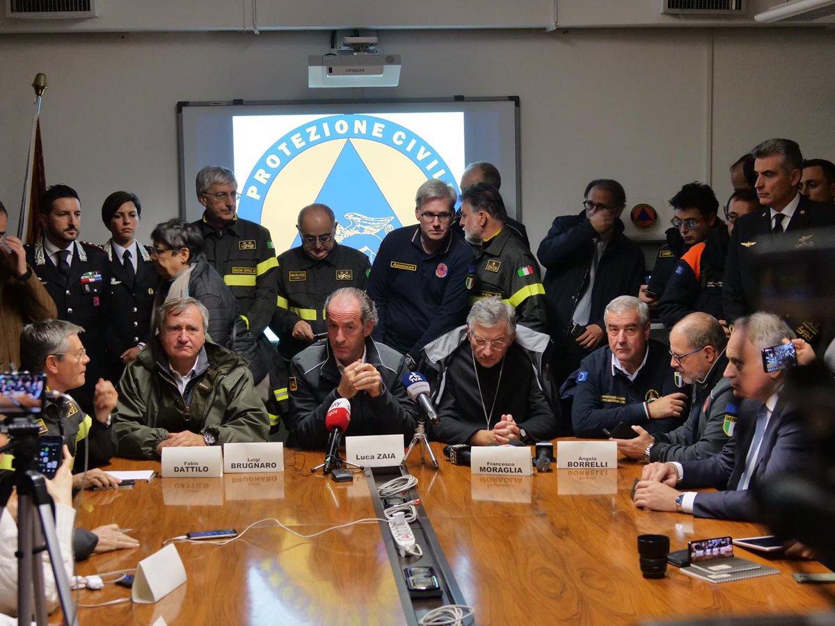 #venezia Le lacrime di Brugnaro: «Da soli rischia...