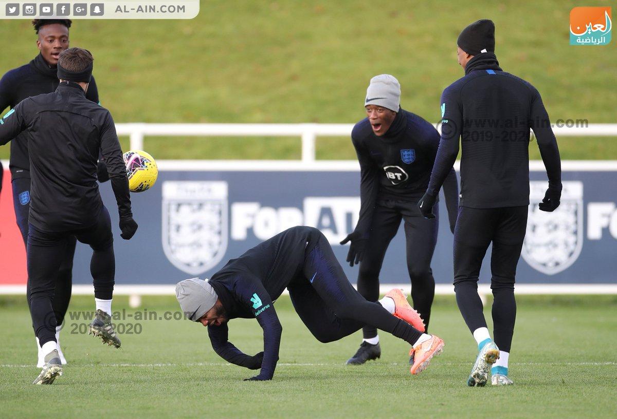 لقطات من تدريبات منتخب #إنجلترا استعدادا لمواجهة مونتينيجرو المقرر لها غدا في تصفيات #يورو2020
