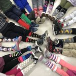 Image for the Tweet beginning: Crazy Sock Day because we