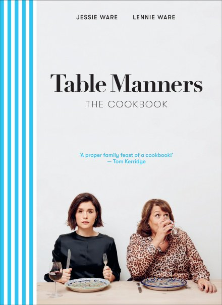 .@EburyPublishing signs Lennie and @JessieWare's #TableManners cookbook: