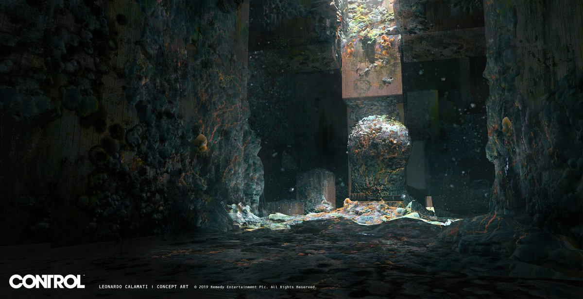 "#BehindTheScenes - ""Here are some concepts for the mold thresholds and the mold-1 boss."" - Leonardo Calamati, Senior Concept Artist ➡️http://ow.ly/LGg550x7pc8  #ControlRemedy #ConceptArt"