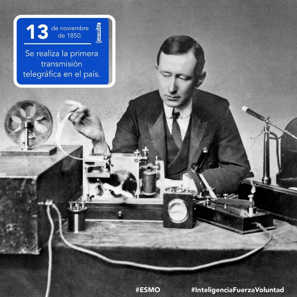🗓 13 de noviembre de 1850 🇲🇽 Se realiza la primera transmisión telegráfica en el país,  el destino fue Palacio de Minería desde Palacio Nacional.   #ESMO #InteligenciaFuerzaVoluntad #Atlixco #Puebla  #NuevaEscuelaMexicana #EducaciónBásica #AccionesPorLaEducación