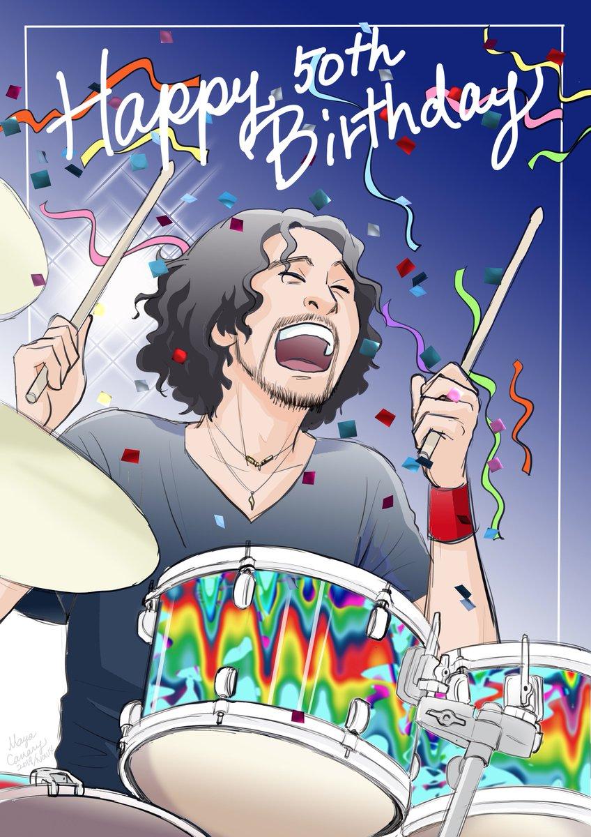 JEN、50歳のお誕生日おめでとうございます♡ず〜〜〜っと元気に、そのドラムでミスチル支えてね!!#鈴木英哉誕生祭2019#JEN#ミスチル#mrchildren