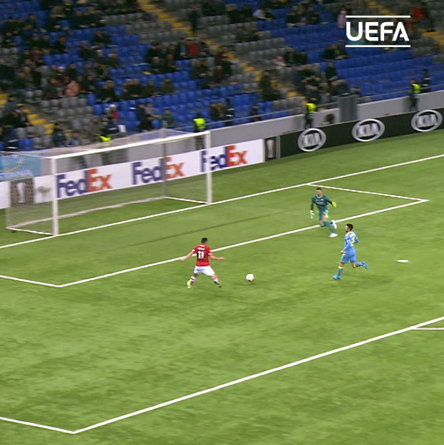 Stengs  Boadu  Idrissi   AZ Alkmaar's front 3 all involved    #UEL |  @AZAlkmaar