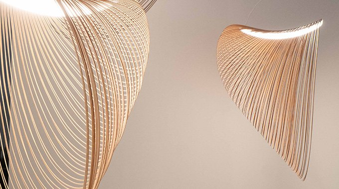 Technological #innovation, research on materials and #sustainability converge in harmony in the #Illan lamp. The highly #decorative and #emotional impact expressed through the intelligent and original use of materials, make it a truly special lamp. https://t.co/J4Swpruda4 https://t.co/baIDqvGI62