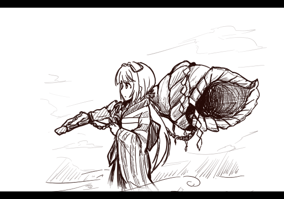 ほら貝を携える芳乃