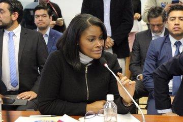 La fiscal general del Estado, Diana Salazar comparece ante la Comisión Multipartidista de Asamblea Ecuador para informar sobre los hechos que investiga Fiscalía, relacionados al paro nacional, ocurrido del 3 al 13 de octubre de 2019.