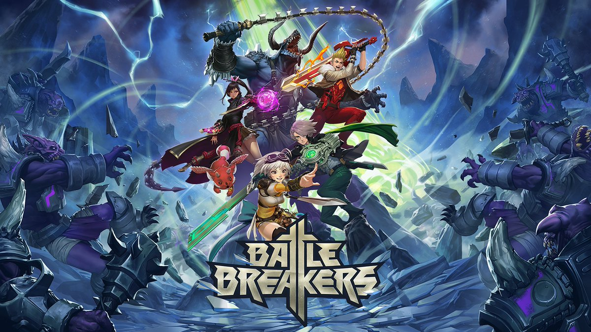 Battle Breakers!   Fight to reclaim the world and its Heroes from space-invading monsters in  #BattleBreakers, a Hero Collector RPG. Battle Breakers has officially launched on PC, iOS, and Android.   Check out our Launch Blog for more info here:   https://www.epicgames.com/battlebreakers/news/battle-breakers