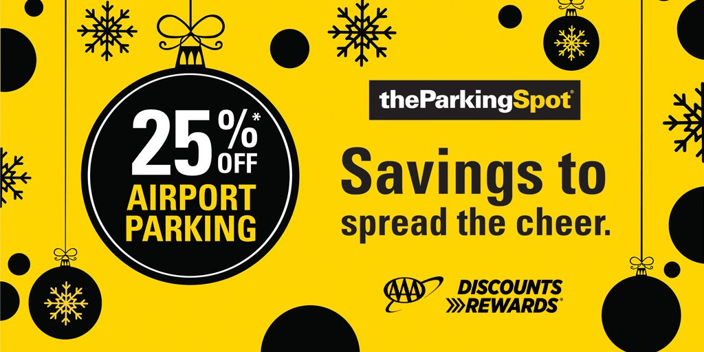 LIMITED-TIME OFFER: Use your #AAADiscounts to save 25% off airport parking valid at any of @TheParkingSpot locations nationwide.   Get your coupon or make your reservation now at .