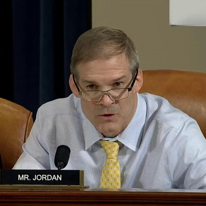"""Glorious clap back!😅 Gym Jordan says Congress will never get a chance to question the WB """"who started it all.""""   @PeterWelch: """"I'd be glad to have the person who started it all come in & testify. Pres. Trump is welcome to take a seat right there.""""  ViaABC"""
