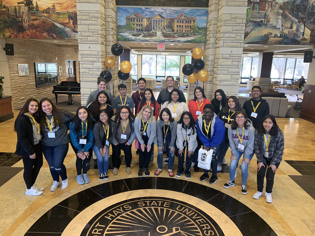 S/O to these fantastic students who joined us on the Southwest Kansas Road Trip! Thanks for letting us show you around campus today. We can't wait to see you back on campus soon! #SouthwestKansasRoadTrip2019 #FutureTigers #ForYou #ForYourFuture #FortHaysState #UatFHSU @DerekFHSU – at Memorial Union