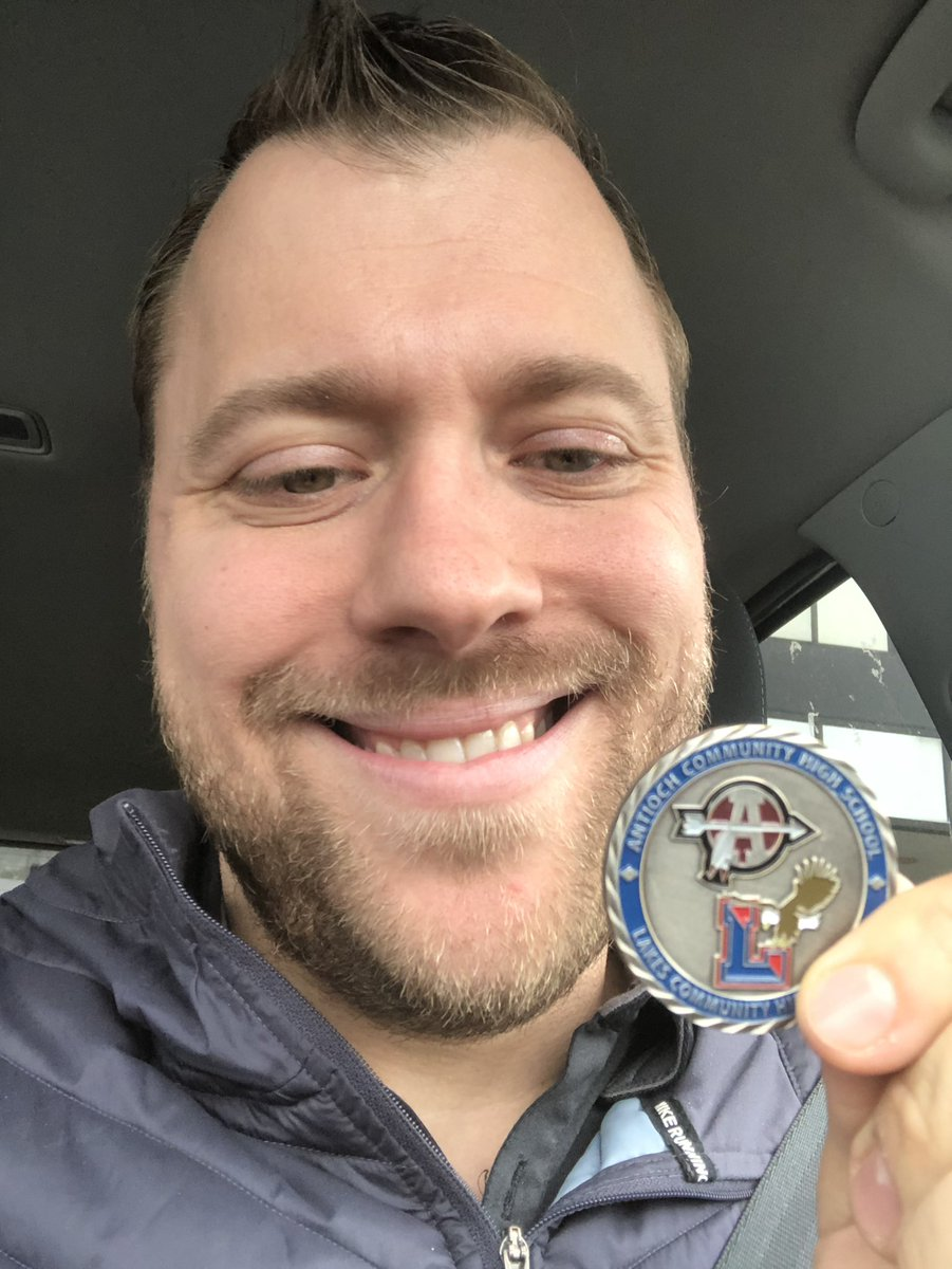 """Got this coin after #teachbetter19 from @hubbardbradford . It truly means so much to receive this token of """"Making it matter"""" I look forward to working with Brad and collaborating further in education! #teachbetter #makeitmatter"""