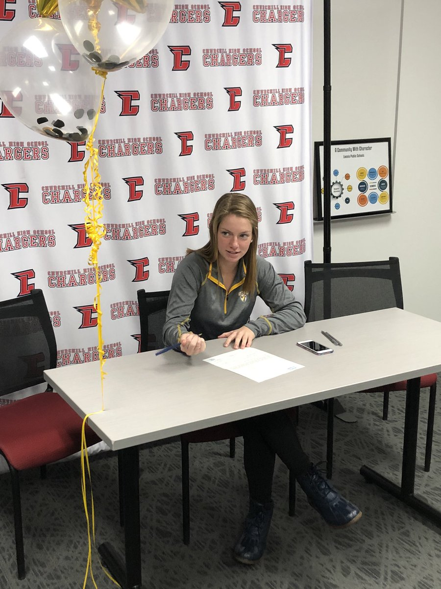 Allison McConnell signs with Valparaiso today to play Division I Tennis . She is also a school record holder in the Swim 200 Medley Relay. Congrats to her.<br>http://pic.twitter.com/V9CBkz4l2V