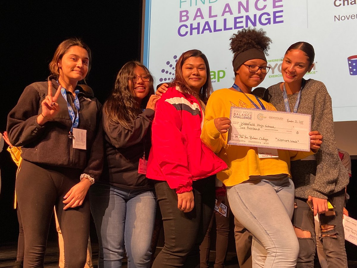 Five senior smiles from Wakefield HS WINNERS! $2000 to implement their ideas in our Wakefield community. What an experience it has been. Thank you <a target='_blank' href='http://search.twitter.com/search?q=ADCAP'><a target='_blank' href='https://twitter.com/hashtag/ADCAP?src=hash'>#ADCAP</a></a>! <a target='_blank' href='http://twitter.com/principalWHS'>@principalWHS</a> <a target='_blank' href='http://twitter.com/APSVaSchoolBd'>@APSVaSchoolBd</a> <a target='_blank' href='http://twitter.com/WHS_Senior_Proj'>@WHS_Senior_Proj</a> <a target='_blank' href='http://twitter.com/APS_SecondaryEd'>@APS_SecondaryEd</a> <a target='_blank' href='https://t.co/vcTyEwRGCj'>https://t.co/vcTyEwRGCj</a>